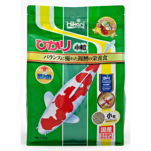 錦鯉用飼料 [ひかり 小粒 1.2kg]