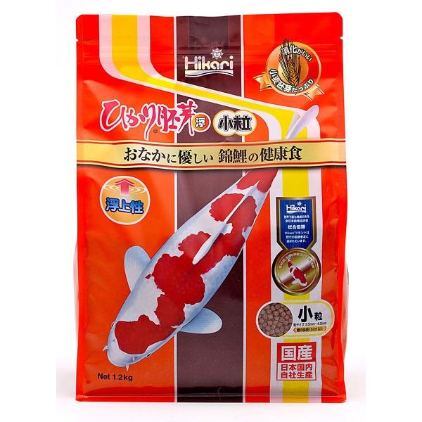錦鯉用飼料 [ひかり胚芽 浮上 小粒 1.2kg]