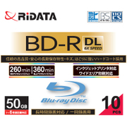 BD-R260PW 6×.10P SC A [録画用BD-R DL スリムケース 50GB 6倍速 インクジェットプリンタ対応 10枚]