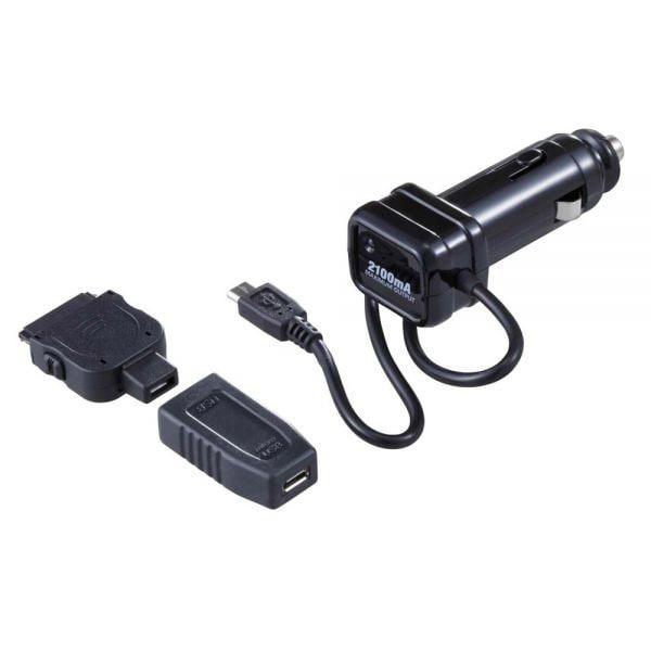FIZZ-971 [DCアダプター 2.1A 12V/24V車専用 2mコード iPhone 6/6 Plus対応]