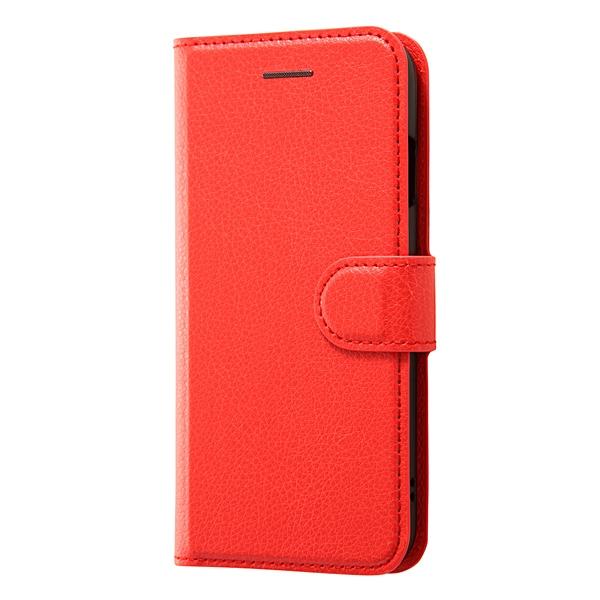 RT-P12ELC1/R [iPhone 7用 4.7インチ ケース 手帳型ケース シンプル マグネット レッド]