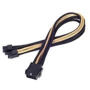 SST-PP07-EPS8BG [EXT.CABLE EPS 4+4pin BLACK&GOLD]