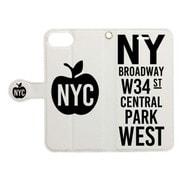 手帳ケース NEW YORK CITY ソノ1WH [iPhone 7用 4.7インチ]