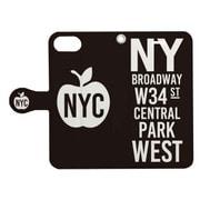 手帳ケース NEW YORK CITY ソノ1BK [iPhone 7用 4.7インチ]