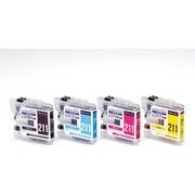 CC-BLC211-4PK [BROTHER LC211-4PK互換インク 使い切りタイプ 4色パック]