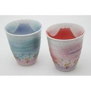 Aki-3 煌き富士山ほろよいカップ セット [土産品食器]