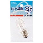LB-T2725-C [白熱電球 ミシン・冷蔵庫球 E17口金 110V 25W クリア]