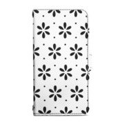 RK-LCC11A [iPhone 7用 Flip Leather Case クラフトデザインケース ホワイト/ブラック]