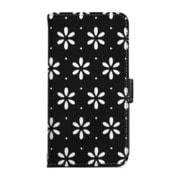 RK-LCC11B [iPhone 7用 Flip Leather Case クラフトデザインケース ブラック/ホワイト]