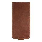 RK-LCC21M [iPhone 7用 Flip Leather Case 高品質レザーケース ブラウン]