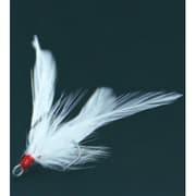 リューギ HFP046 フェザードピアストレブル ホワイト 1 [フェザーフック]