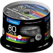 MUR80FP50SV1 [CD-R(Audio) 1回録音用 80分 48倍速 スピンドルケース50P インクジェットプリンタ/ワイド印刷エリア対応 ホワイト]