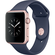 Apple Watch Series 1 - 42mmローズゴールドアルミニウムケースとミッドナイトブルースポーツバンド