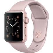 Apple Watch Series 2 - 38mmローズゴールドアルミニウムケースとピンクサンドスポーツバンド