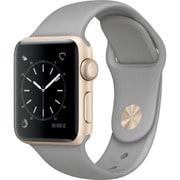 Apple Watch Series 2 - 38mmゴールドアルミニウムケースとコンクリートスポーツバンド