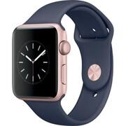 Apple Watch Series 2 - 42mmローズゴールドアルミニウムケースとミッドナイトブルースポーツバンド