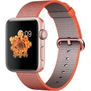 Apple Watch Series 2 - 42mmローズゴールドアルミニウムケースとスペースオレンジ/アントラシットウーブンナイロンバンド