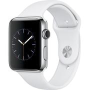 Apple Watch Series 2 - 42mmステンレススチールケースとホワイトスポーツバンド