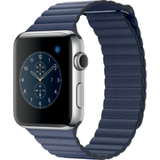 Apple Watch Series 2 - 42mmステンレススチールケースとミッドナイトブルーレザーループ - L