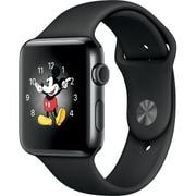 Apple Watch Series 2 - 42mmスペースブラックステンレススチールケースとブラックスポーツバンド