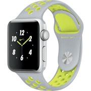 Apple Watch Nike+ - 38mmシルバーアルミニウムケースとフラットシルバー/ボルトNikeスポーツバンド