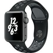 Apple Watch Nike+ - 38mmスペースグレイアルミニウムケースとブラック/クールグレーNikeスポーツバンド