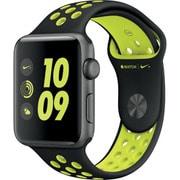 Apple Watch Nike+ - 42mmスペースグレイアルミニウムケースとブラック/ボルトNikeスポーツバンド