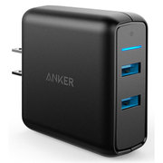 A2025111 [Power Port 2 2016 with Quick Charge 3.0 US Black (31.5W 2ポート USB急速充電器 Quick Charge 3.0対応)]