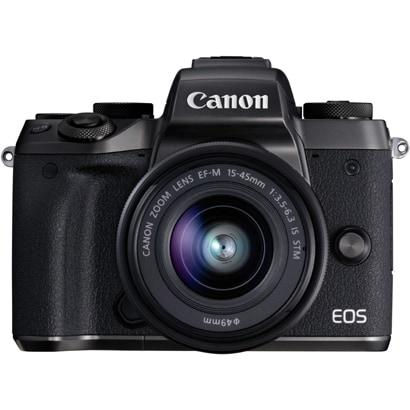 EOS M5 EF-M15-45 IS STM レンズキット ブラック [ボディ+交換レンズ「EF-M15-45mm F3.5-6.3 IS STM(グラファイト)」]