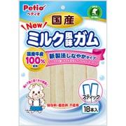 ペティオ NEW 国産 ミルク風味ガム スティック [犬用スナック 1歳~ 18本入]