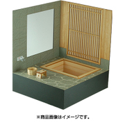 WZ-012 [1/12スケール 木製組立キット 和の造作 檜の露天風呂]