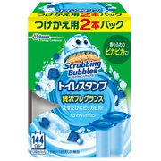 スクラビングバブル トイレスタンプ 贅沢フレグランス アロマティックサボン 替2P [トイレ用洗剤]