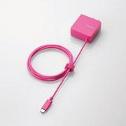 MPA-ACCCC154PN [スマートフォン・タブレット用AC充電器 USB Type-C ケーブル一体型 2A出力 1.5m ピンク]