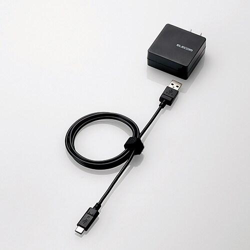 MPA-ACCCS104BK [スマートフォン・タブレット用AC充電器 USB A-C ケーブル同梱 2A出力 1.0m ブラック]