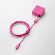 MPA-ACCCS154PN [スマートフォン・タブレット用AC充電器 USB A-C ケーブル同梱 2A出力 1.5m ピンク]
