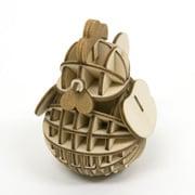 Wooden Art ki-gu-mi ニワトリ [木製模型 未組立キット]