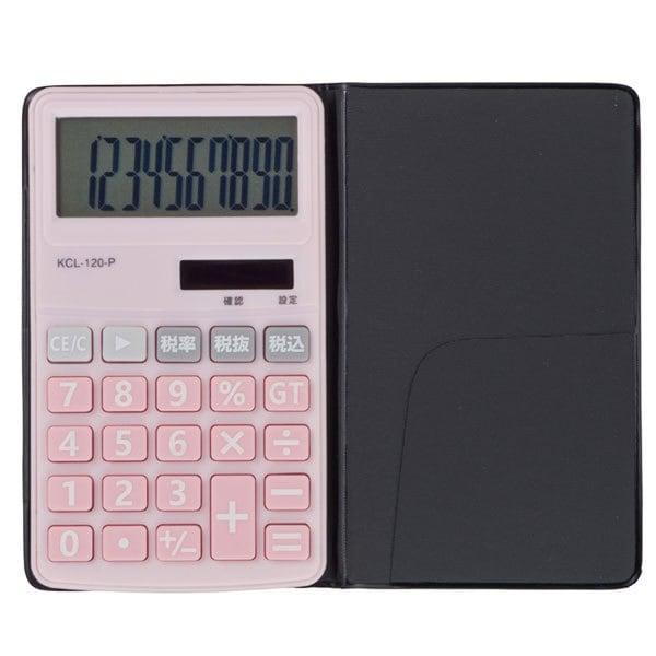 KCL-120-P [電卓10桁 手帳タイプ ピンク]