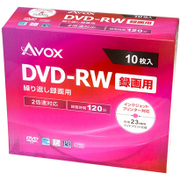 DRW120CAVPW10A [録画用DVD-RW 10P スリムケース インクジェットプリンター対応 ホワイトレーベル CPRM対応 1-2x]
