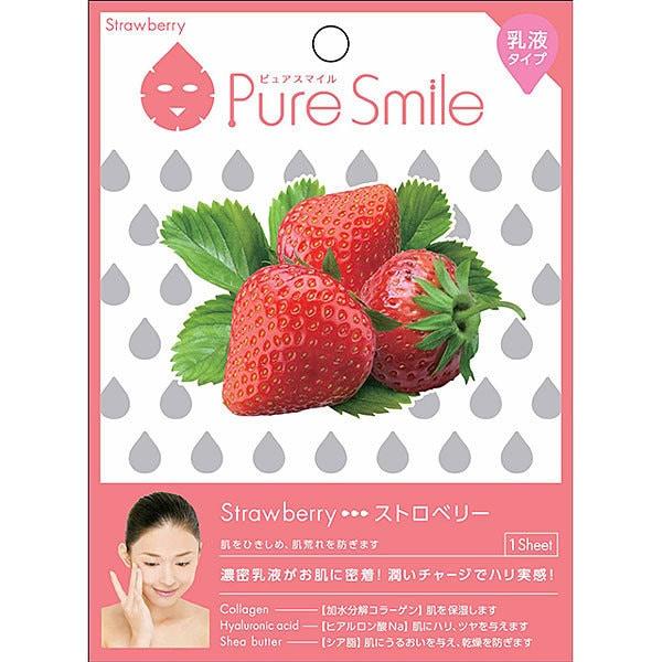 Pure Smile(ピュアスマイル) エッセンスマスク 乳液タイプ N002 ストロベリー [1枚]