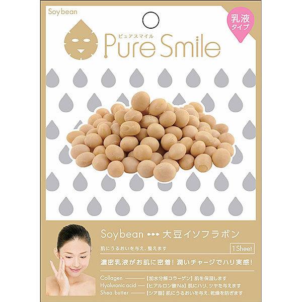 Pure Smile(ピュアスマイル) エッセンスマスク 乳液タイプ N007 大豆イソフラボン [1枚]
