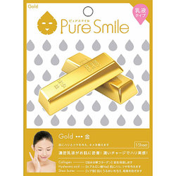 Pure Smile(ピュアスマイル) エッセンスマスク 乳液タイプ N010 金 [1枚]