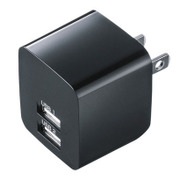 ACA-IP44BK [USB充電器 2ポート 合計2.4A ブラック]