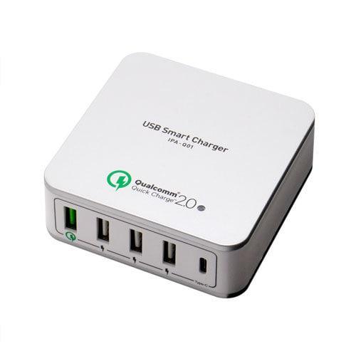 IPA-Q01/SL [QC2.0 Type-C対応USB-ACアダプタ シルバー]