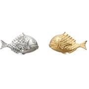 501714 [錫・錫金メッキ 鯛のはしおき 金メッキ 2ヶ入]