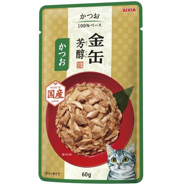 金缶芳醇 パウチ かつお 60g [キャットフード]