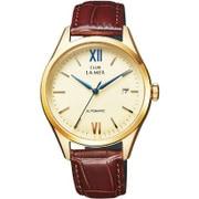 BJ6-020-10 [CLUB LA MER(クラブラメール) レザーバンド 機械式腕時計 ブラウン]