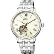 BJ7-018-11 [CLUB LA MER(クラブラメール) ステンレスバンド 機械式腕時計 ホワイト]