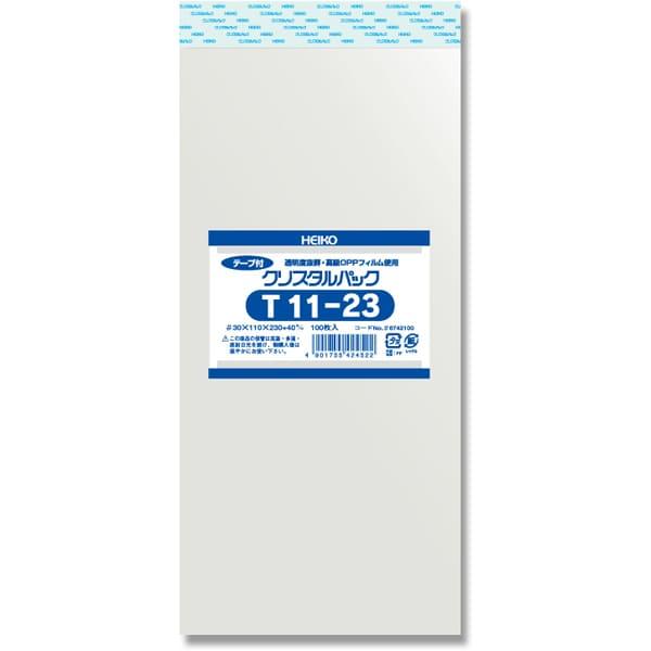 T11-23 [クリスタルパックテープ付き 100枚入り]