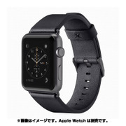 F8W731btC00 [Classic Leather Band for Apple Watch 38mm ブラック]