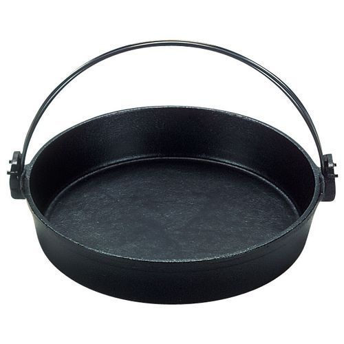 QSK50026 [(S)鉄 すきやき鍋 ツル付(黒ぬり) 26cm]